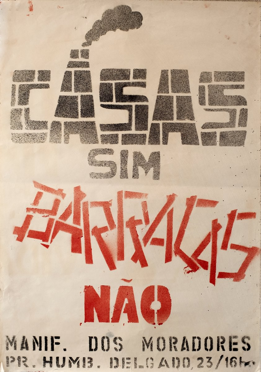 Poster announcing the protests against the dismantling of SAAL in 1976. Source: Archive of Centro de Documentação 25 de Abril (Collection A. Alves Costa) – University of Coimbra