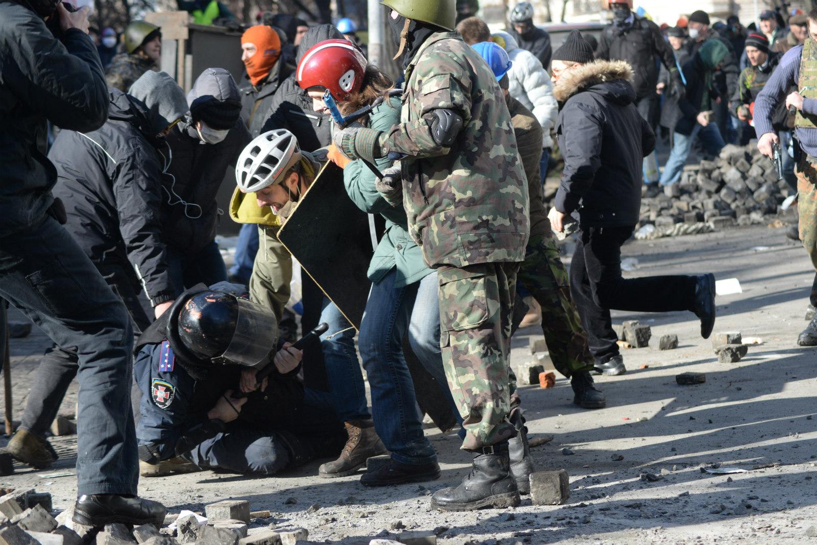 Invisible borders during the 2014 Ukrainian revolution (Mstyslav Chernov/Unframe - Wikimedia Commons)