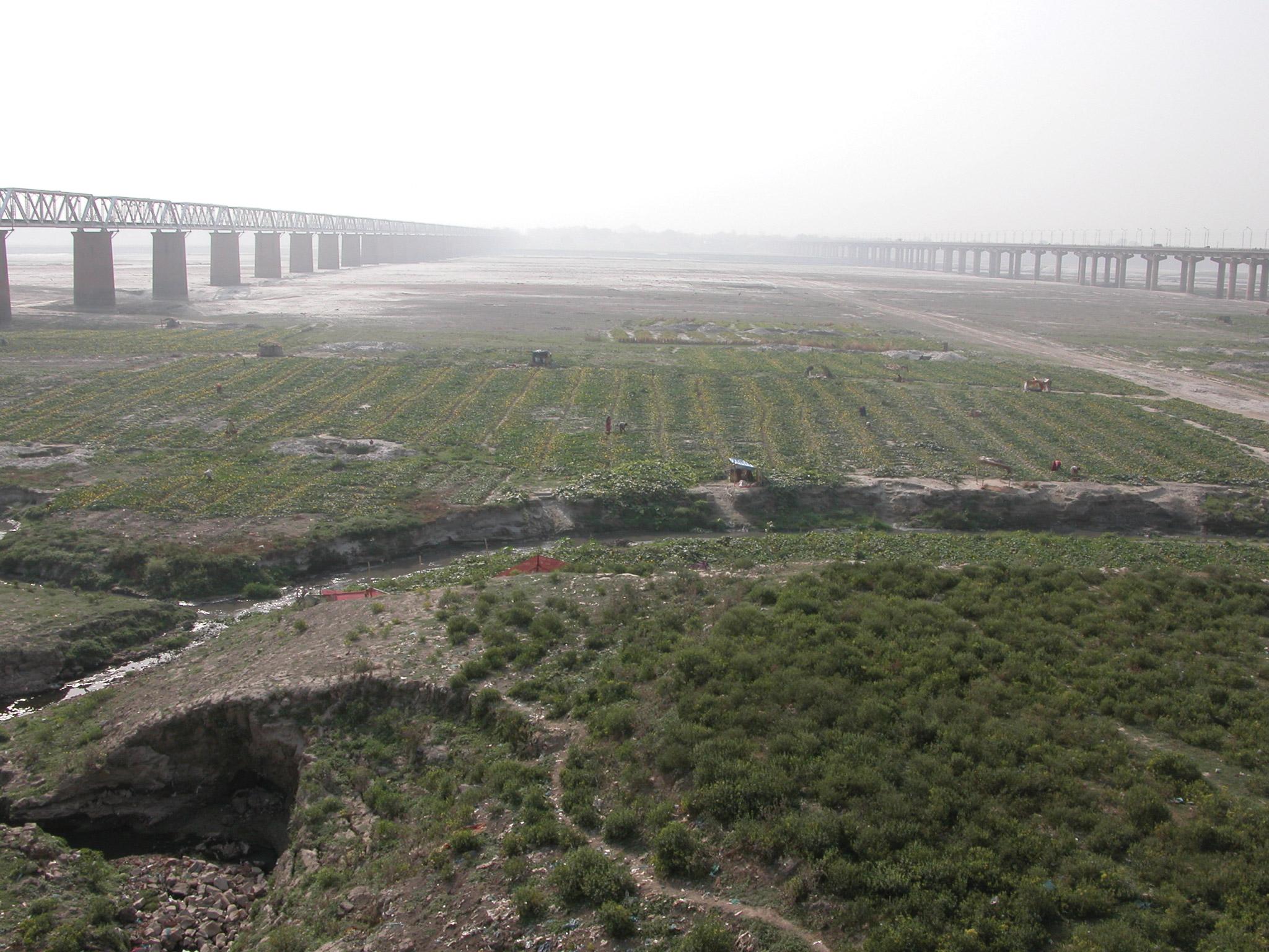North of the Triveni Sangam at Allahabad, Uttar Pradesh, 2006. Photo: Anthony Acciavatti.