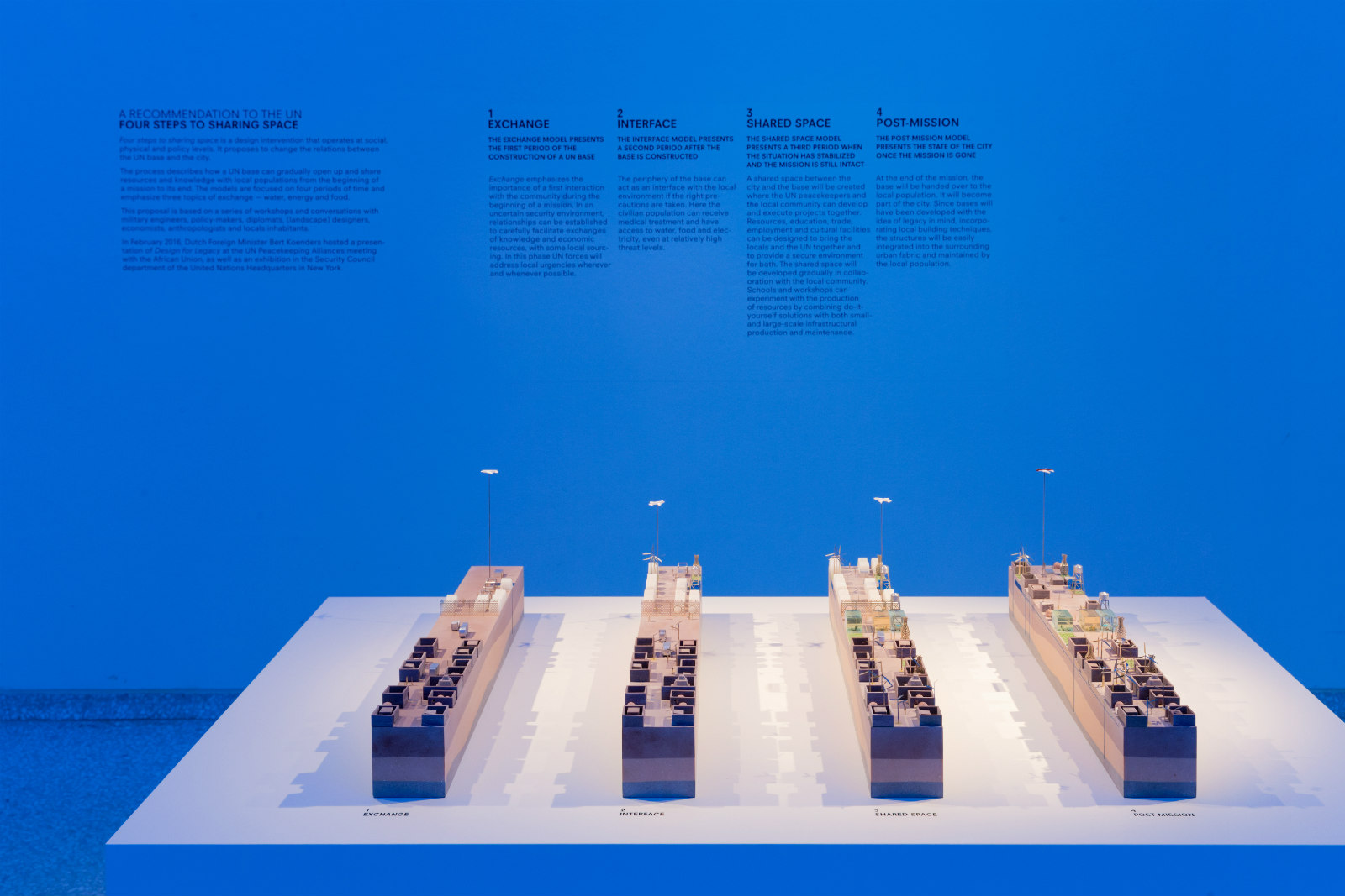 BLUE: Architecture of UN Peacekeeping Missions. Photo: Iwan Baan