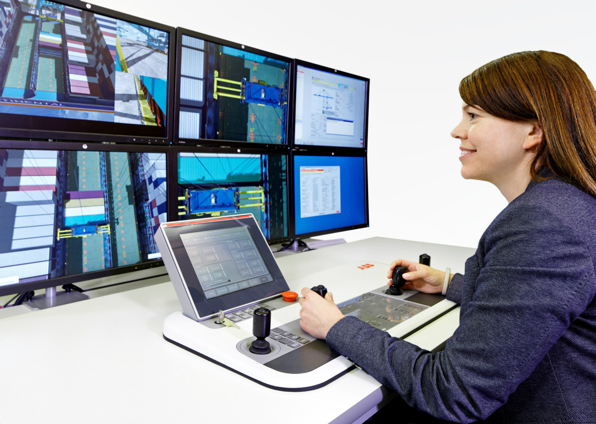 'Operator in focus': simulator based training using a tabletop remote control station. Source: ABB