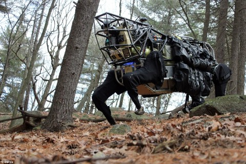 Kluge 2.0? The military Alphadog, a four legged robot that can follow a soldier for 20 miles carrying his pack and equipment.