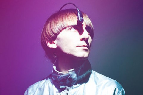 Neil Harbisson wearing his Eyeborg, a device which translates colors into soundwaves.