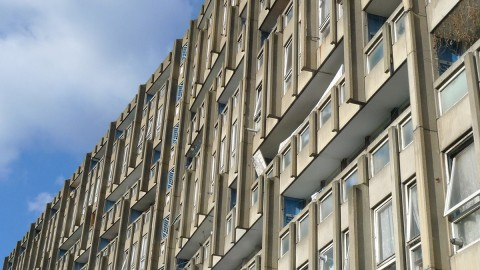 Robin Hood Gardens, designed by Alison and Peter Smithson, 1972 (demolished 2013).