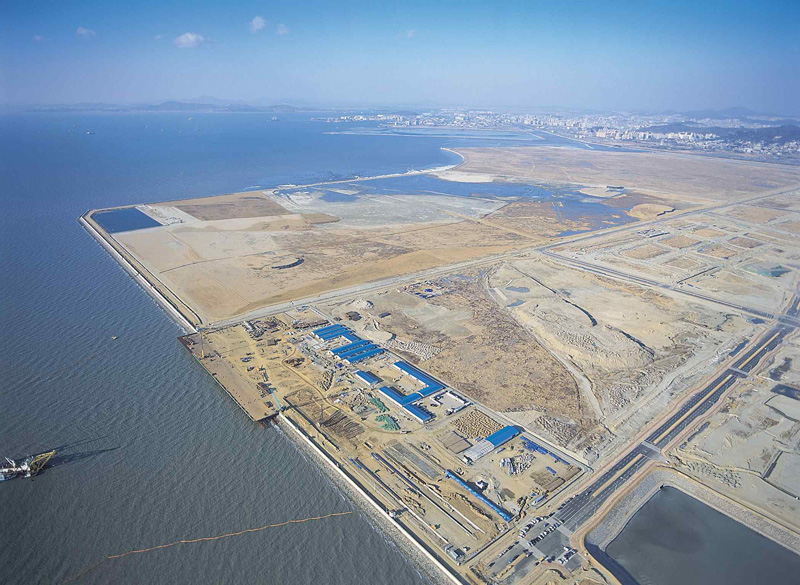 New Songdo in South Korea, prior to construction