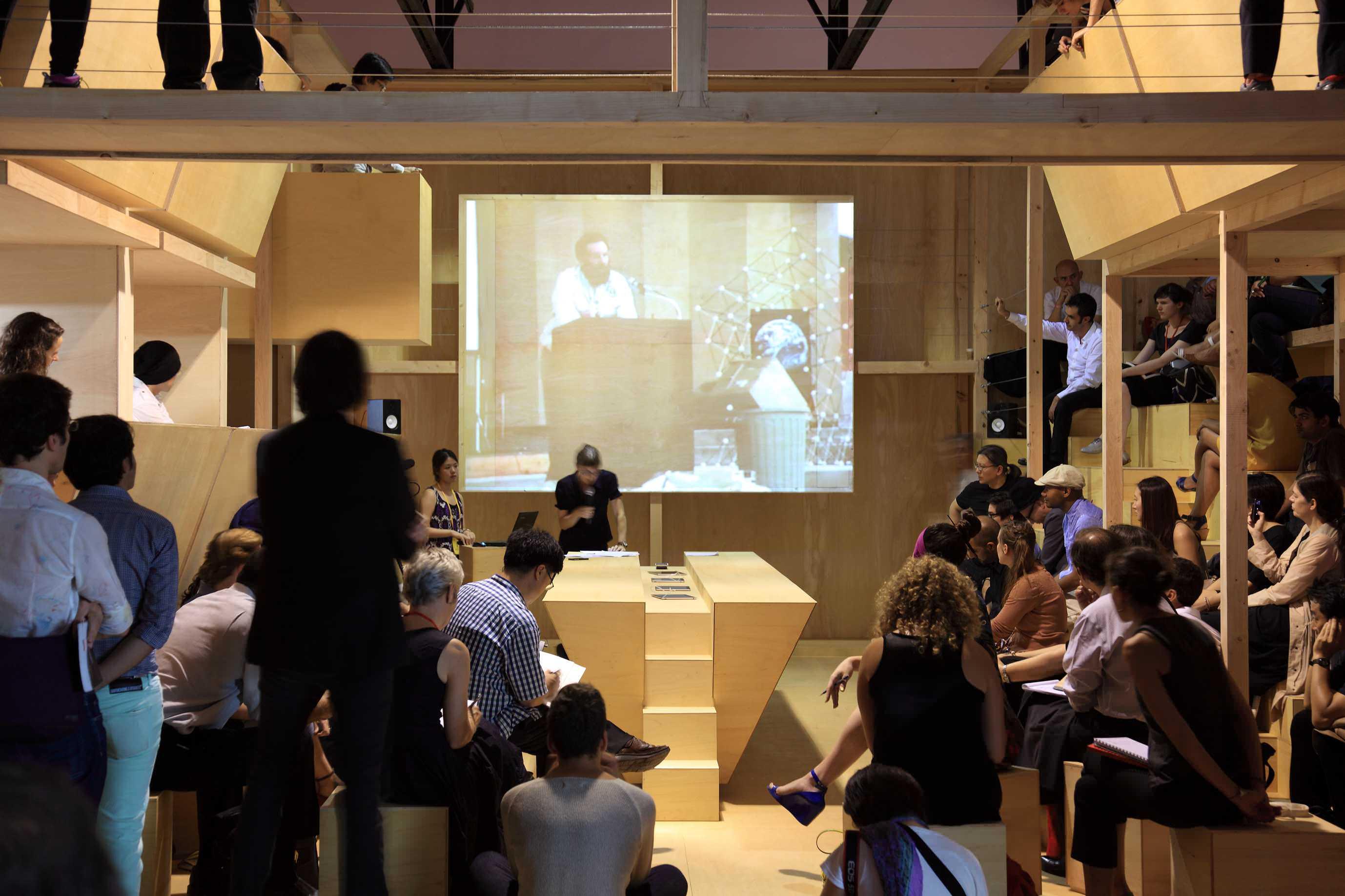 Gwangju Biennial On Site, a community Hub for content production, 2011. A project by nOffice (Miessen Pflugfelder Nilsson). Photography by JomgOh Kim.