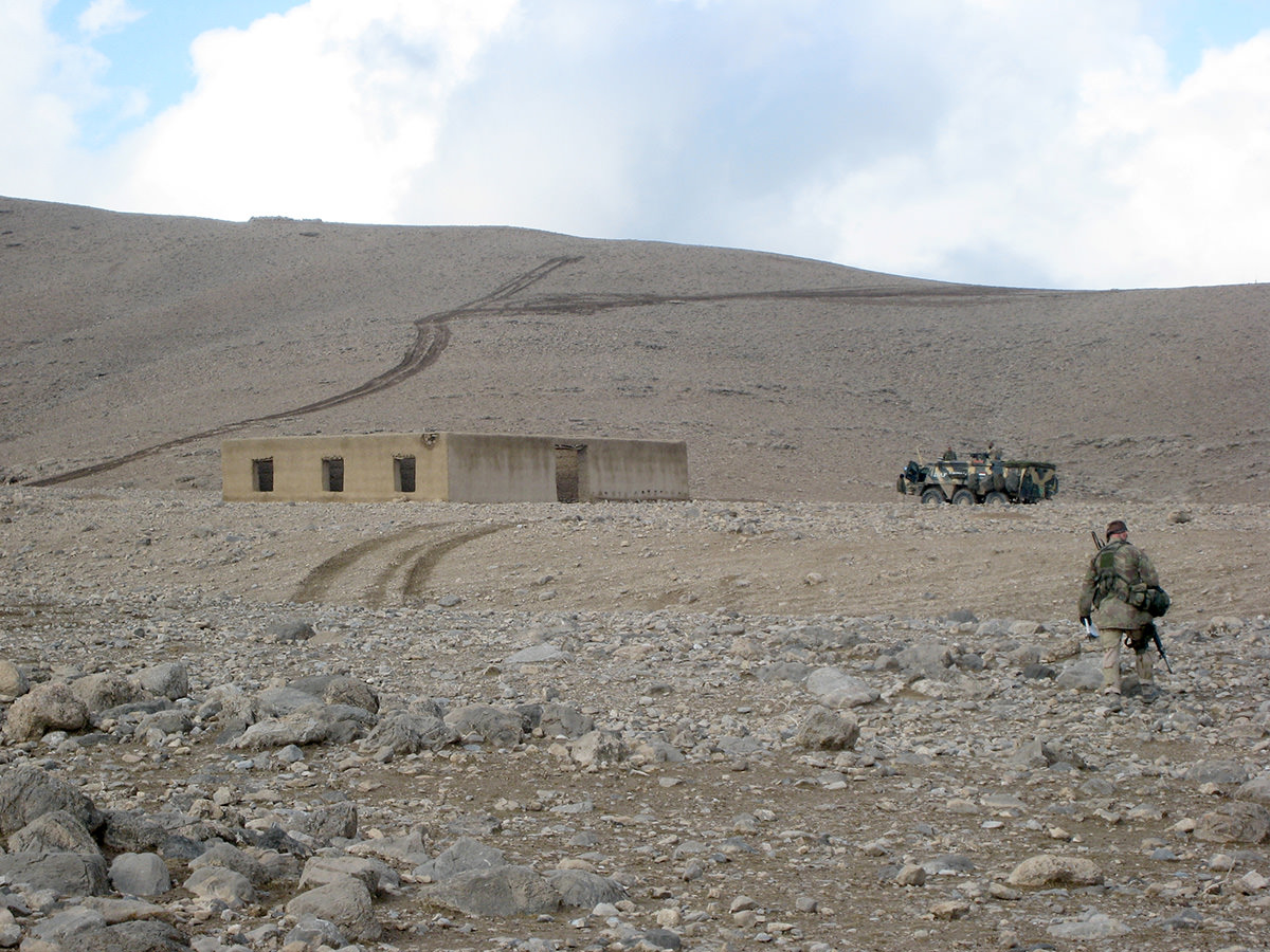 A new school building on the outskirts of the village of Sajawul. At the time of inspection it was still under construction.