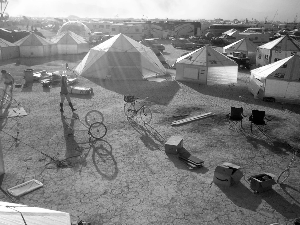 Hexayurt at 2011 Burning Man (credit: Robin Gane-McCalla)