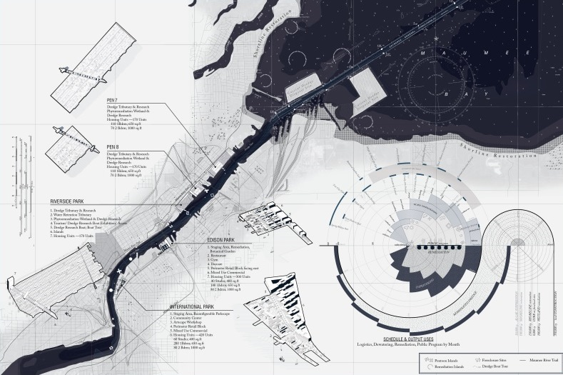 Masterplan and schedule of the expanded Geologics. (Drawing: The Open Workshop)