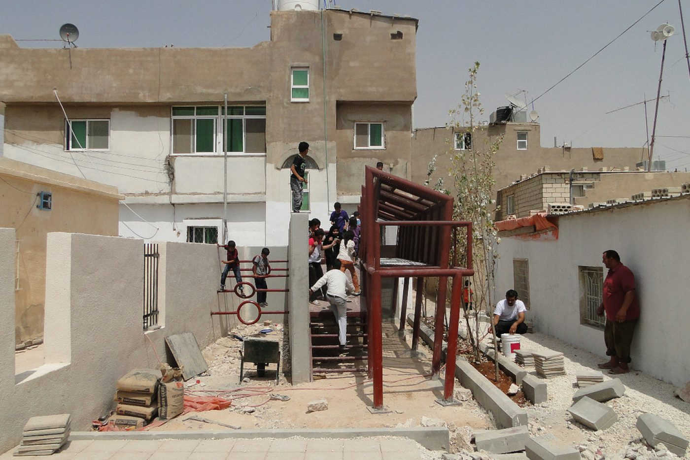 Jordan: Edge of Play-Palestinian Refugee Camp